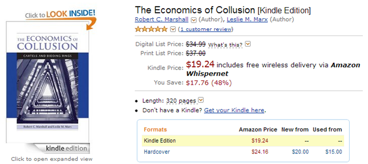 The Economics of Collusion Kindle Edition