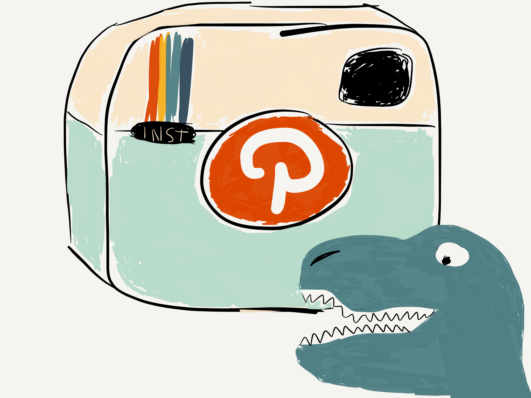 Pinstagram Dino