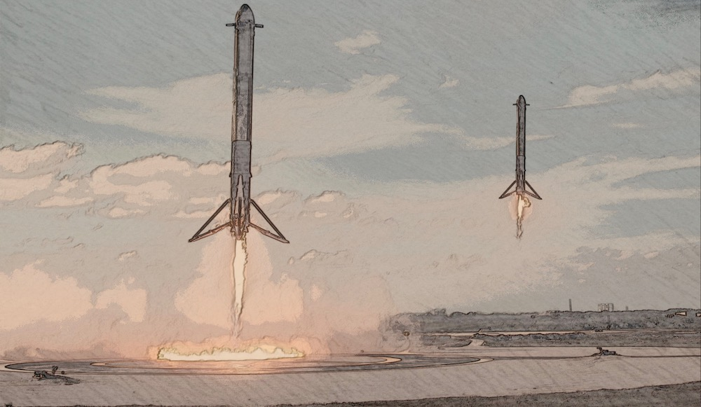 SpaceX Double Rocket Landing